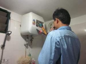 Sửa chữa bình nóng lạnh tại Đội Cấn